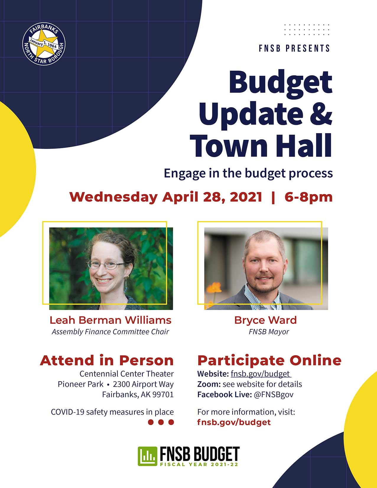 Budget Update & Town Hall Event Poster